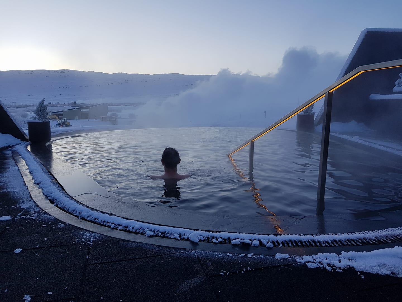 Krauma nature bath in winter