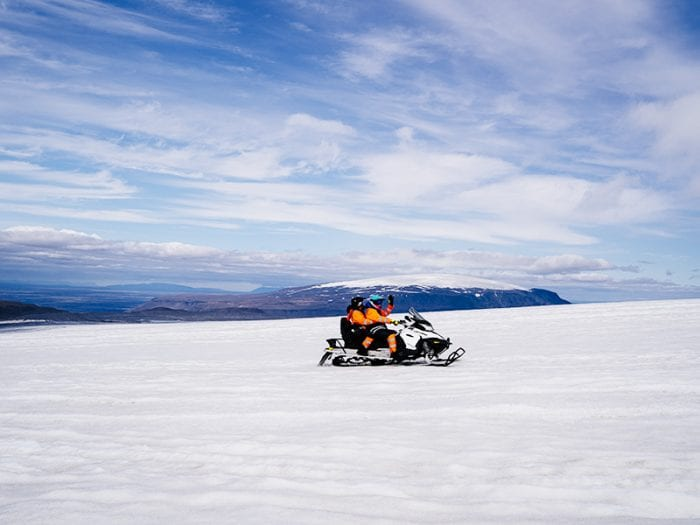 Lonely snowmobile in Iceland