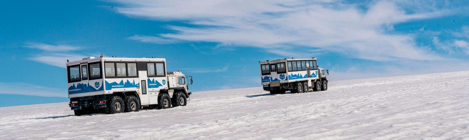 8 wheel trucks - into the glacier
