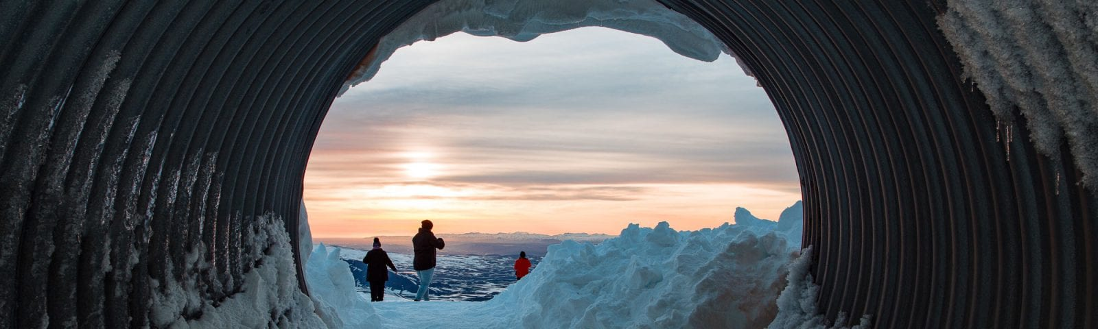 Entrance to Into the Glacier ice cave
